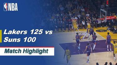 Berita Video Highlights NBA 2019-2020, LA Lakers Vs Phoenix Suns  125-100