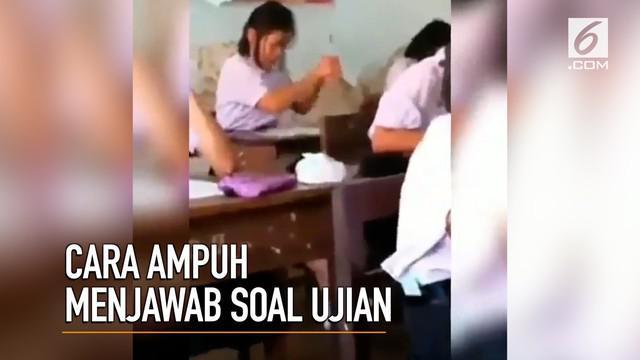 Putus asa saat menjawab soal ujian? Siswi ini punya cara ampuh untuk mengisi soal-soal yang sulit.