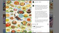 Presiden Jokowi mempromosikan kuliner khas daerah di akun Instagramnya. (Akun Instagram @jokowi)