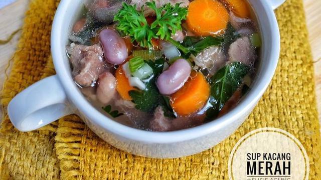 ilustrasi resep sup kacang merah/cookpad