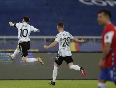 Messi Cetak Gol, Argentina Imbang Atas Chile