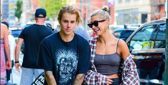 Hailey Baldwin mengajak Justin Bieber ke New York Fashion Week. (instagram/justinbiebertrackerrr)