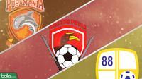 Klub Kalimantan di Shopee Liga 1 2019: Borneo FC, Kalteng Putra dan Barito Putera. (Bola.com/Dody Iryawan)