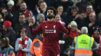 2. Mohamed Salah (Liverpool) - 17 gol dan 7 assist (AFP/Paul Ellis)