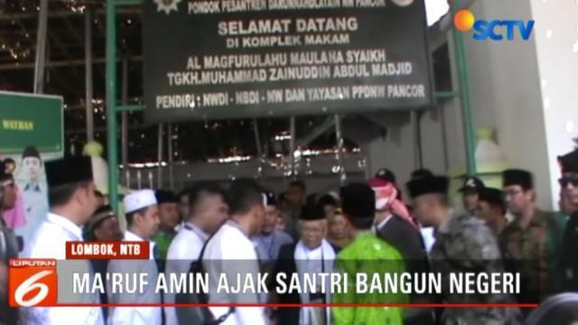 Ma'ruf juga diagendakan berkunjung ke sejumlah pondok lain, di antaranya pondok pesantren Syeikh Zainuddin Anjani dan pondok Pesantren Qomrul Huda.