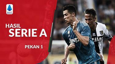 Berita video hasil Serie A 2019-2020 pekan pertama. Juventus menang 1-0 atas Parma, Udinese kalahkan AC Milan.