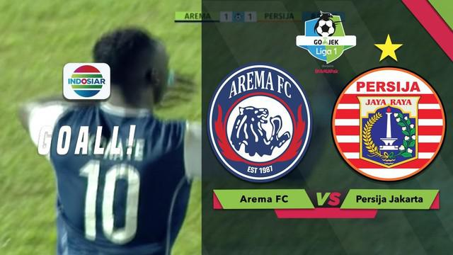 Berita video momen gol gelandang Arema FC, Makan Konate, saat menghadapi Persija Jakarta dalam lanjutan Gojek Liga 1 2018 bersama Bukalapak, Minggu (5/8/2018).
