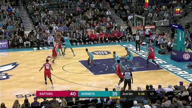 Berita video game recap NBA 2017-2018 antara Toronto Raptors melawan Charlotte Hornets dengan skor 129-111.