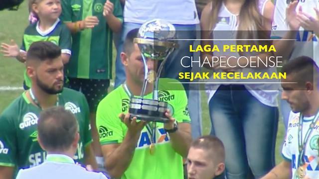Berita video laga pertama Chapecoense sejak kecelakaan pesawat di Kolombia yang tewaskan 19 pemain.