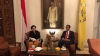 Ketua Umum PDI Perjuangan Megawati Soekarnoputri bertemu dengan Presiden Jokowi di Istana batu Tulis Bogor (Istimewa).