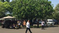 Politikus PKB Abdul Halim Iskandar dipanggil Presiden Jokowi ke Istana Kepresidenan, Jakarta. (Genantan Saputra/Merdeka.com)