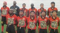 Mbeng Jean bersama skuat Persija Jakarta musim 1997-1998. (Item)