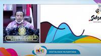 Wakil Gubernur Sulawesi Selatan (Sulsel) Andi Sudirman menyampaikan dampak digitalisasi selama pandemi corona di daerahnya. (Istimewa)