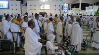 Jemaah haji Indonesia saat tiba di Bandara King Abdul Aziz, Jeddah. Darmawan/MCH