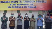 Fasilitas produksi PT HM Sampoerna Tbk diresmikan sebagai salah satu pabrik percontohan dalam program Industri Tangguh Semeru (Sehat, Aman, Tertib, dan Rukun) yang digagas oleh Pemerintah Kota Malang. (Ist)