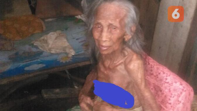 Mbah Wagirah yang berusia 100 tahun juga belum tersentuh kehadiran negara (foto: Liputan6.com/Kusfitriyah Marstyasih)
