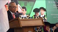 Dihadapan civitas akademika ITB, Menteri Basuki menyampaikan 5 terobosan yang dilakukan Kementerian PUPR untuk infrastruktur Indonesia.