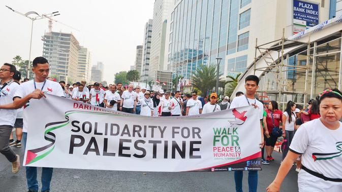 Walk for Peace and Humanity, Indonesian Solidarity Week for Palestine di Jakarta (14/10) (sumber: Kemlu RI)