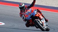 Jorge Lorenzo selalu gagal menjadi juara di MotoGP San Marino jika memulai balapan dari pole position. (AFP/ Tiziana Fabi)