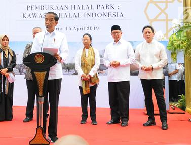 Jokowi Resmikan Halal Park di Senayan