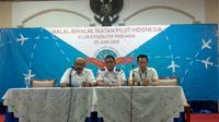 Halalbihalal Ikatan Pilot Indonesia pada Selasa, 25 Juni 2019 (Foto: Liputan6.com/Maulandy R)
