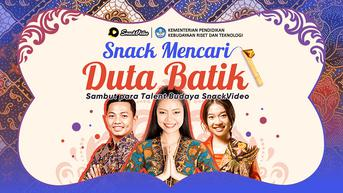 SnackVideo dan Kemendikbudristek Luncurkan Program Cari Duta Batik