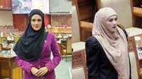 Gaya hijab 'jadul' Mulan Jameela saat kerja jadi anggota DPR, jadi sorotan. (Sumber: Instagram/@mulanjameelacenter)