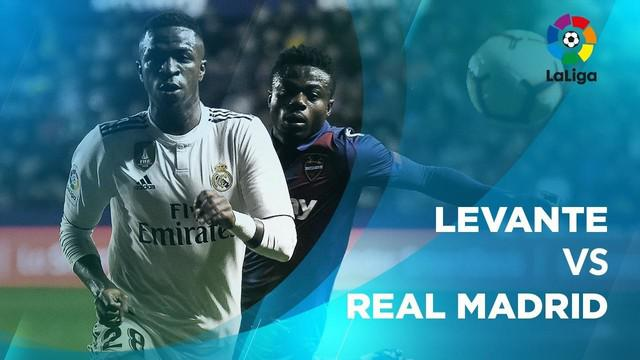 Berita video statstik Levante vs Real Madrid pada laga pekan ke-25 La Liga 2018-2019, Senin (25/2/2019).