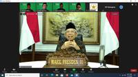 Wapres Ma'ruf Amin menerima audiensi PP FKDMI secara daring. (Dok Istimewa)