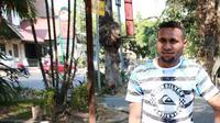 Kapten Sriwijaya FC Titus Bonai. (Bola.com/Nicklas Hanoatubun)