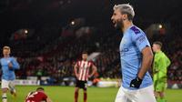 Striker Manchester City, Sergio Aguero (OLI SCARFF / AFP)