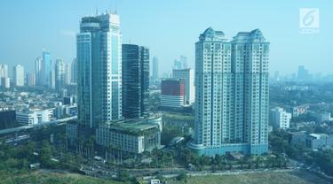 Lansekap gedung bertingkat terlihat di kawasan Jakarta, Selasa (13/8/2019). Kepala Dinas Cipta Karya, Tata Ruang, dan Pertanahan DKI Jakarta Heru Hermawanto mengungkapkan penurunan pembangunan gedung masih terjadi pada periode 2019-2020. (Liputan6.com/Immanuel Antonius)