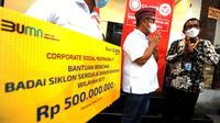 BTN salurkan bantuan ke masyarakat Nusa Tenggara Timur (NTT) yang terdampak bencana badai siklon Seroja. (dok: BTN)