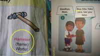 kesalahan di buku bahasa Inggris