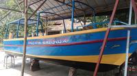 inilah perahu buatan Abdul Rahman, warga Kabupaten Bangkalan. dia mengklaim perahu ini satu-satunya di Indonesia. (Liputan6.com/Musthofa Aldo)