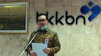 Kepala BKKBN, dr. Hasto Wardoyo, Sp.OG(K) saat konferensi pers peringatan Hari Kependudukan Dunia di Kantor Pusat BKKBN, Jumat (10/07).
