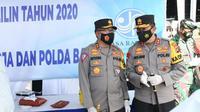 Kakorlantas Polri Irjen Pol Istiono melakukan peninjauan pelaksanaan operasi lilin 2020 di Bali pada Sabtu (26/12/2020).(Istimewa)