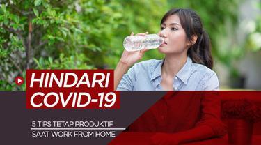 Berita motion grafis 5 tips produktif dan sehat saat work from home emi hindari Covid-19.