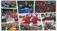 Kolase - Suporter Timnas Indonesia (Bola.com/Adreanus Titus)