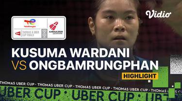 Berita video highlights pertandingan ketiga Indonesia vs Thailand di perempat final Piala Uber 2020, di mana Putri Kusuma Wardani menelan kekalahan, Jumat (15/10/2021) dinihari WIB.