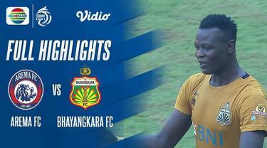 Berita Video highlights BRI Liga 1 2021/2022 pertandingan anatara Arema FCT vs Bhayangkara FC Minggu (12/9/2021) sore WIB.