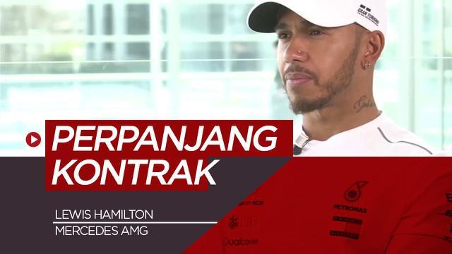 Berita Video Lewis Hamilton Perpanjang Kontrak Dua Tahun dengan Mercedes
