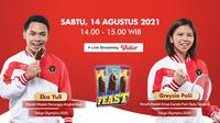 Virtual Meet & Greet Eko Yuli dan Greysia Polli yang digelar Feast X Bola.net.