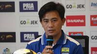 Yaya Sunarya meyakini Bhayangkara FC tetap kuat lawan Persib (Liputan6.com/Kukuh Saokani)