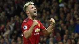 Luke Shaw mengalami kenaikan banderol di 2021 sebanyak 20 juta euro. Pemain Manchester United tersebut awalnya memiliki nilai banderol sebesar 22 juta euro pada awal tahun 2021 dan saat ini sudah mencapai 42 juta euro. (Foto: AFP/Oli Scarff)