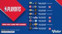 Live Streaming NBA Playoffs Pekan Ini di Vidio. (Sumber : dok. vidio.com)