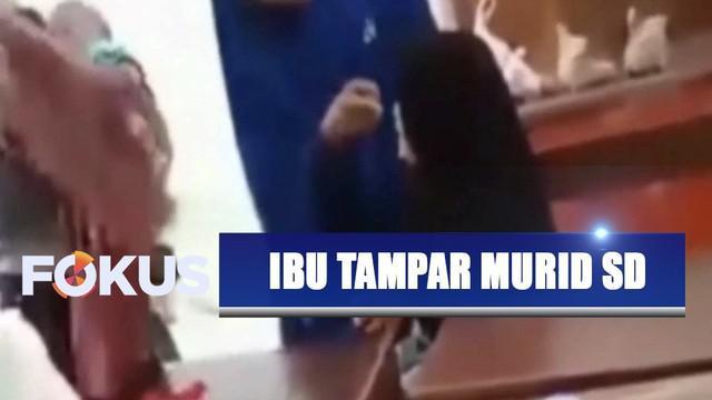 Viral video seorang ibu lampiaskan dendam dengan menampar murid SD di Makassar, Sulawesi Selatan, lantaran korban main sapu lalu mengenai kepala anak pelaku hingga benjol.