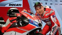 Jorge Lorenzo diperkenalkan sebagai pebalap Ducati, di Bologna, Italia, Jumat (20/1/2017). (EPA/GIORGIO BENVENUTI)