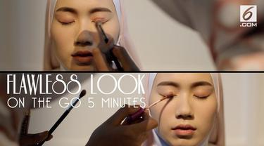 Siapa bilang makeup flawless harus dibuat dalam waktu yang lama. Berikut tips supaya bisa mendapatkan makeup flawless dalam waktu 5 menit saja!