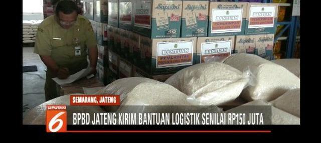BPBD Jawa Tengah siapkan bantuan logistik berupa makanan, alat rumah tangga, dan perlengkapan sekolah untuk korban gempa di NTB.